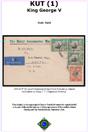 Philatelic and Postal History Display of KUT (Kenya, Uganda, Tanganyika) in WW2 & Mau Mau Emergency