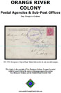 Philatelic Display of Orange River Colony (ORC) Postal Agencies and Sub-Post Offices